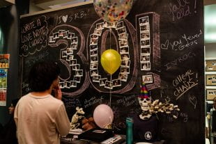 Rice Coffeehouse celebrated its 30th anniversary Dec. 3.(Photo by Jeff Fitlow)