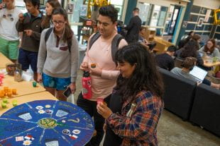Coffeehouse celebrated its anniversary with a week of games and giveaways. (Photo by Jeff Fitlow)