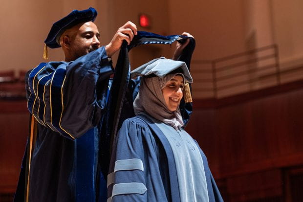Rice hosted its first December convocation Dec. 9 in the Stude Concert Hall inside Alice Pratt Brown Hall. (Photo by Jeff Fitlow, video by Brandon Martin)