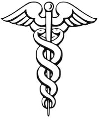 The caduceus, often depicted as a symbol of medicine. (Credit: Wikipedia)