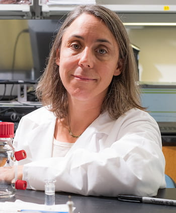 Caroline Ajo-Franklin joined Rice University as a professor of biosciences with funding from the Cancer Prevention and Research Institute of Texas. (Credit: Jeff Fitlow/Rice University)