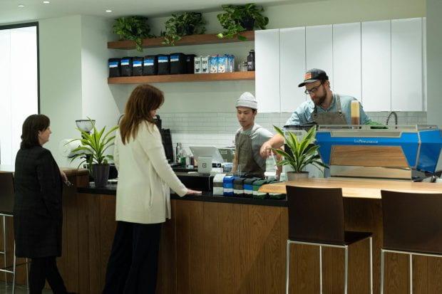Audrey's coffee shop in Jones School of Business