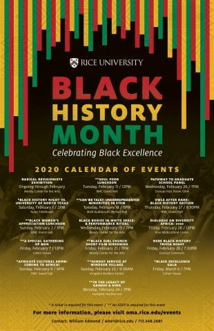 Black History Month at Rice 2020