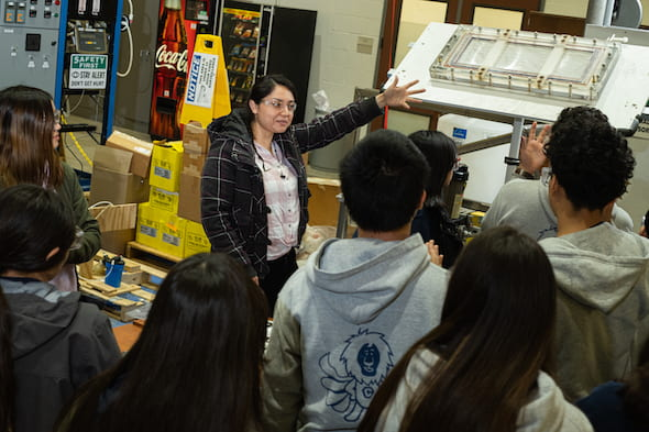 Engineering Week for middle schoolers at Ryon Lab