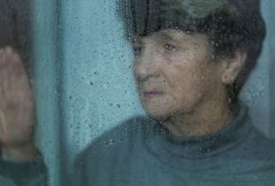 Elderly, sad and lonely women suffering from depression. Photo by 123rf.com.