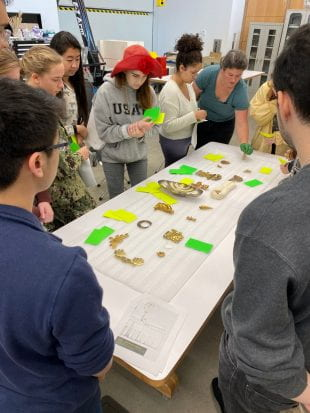 The MFAH's assistant conservator of objects and sculpture Ingrid Seyb invited Rice students into her workspace for a Chemistry of Art class trip.