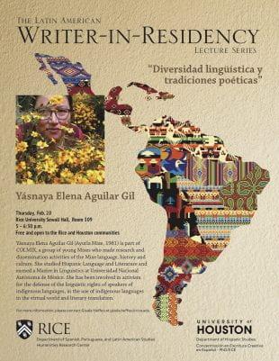 Latin American Writer-in-Residency flyer 2020