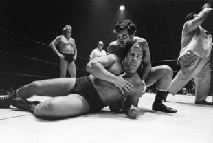 Rice professor Geoff Winningham's 1970-71 photographs celebrating professional wrestling in the Houston Coliseum will be shown for the first time in 50 years starting Feb. 22.