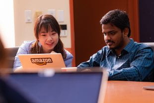 Rice computer science graduate students Beidi Chen and Tharun Medini