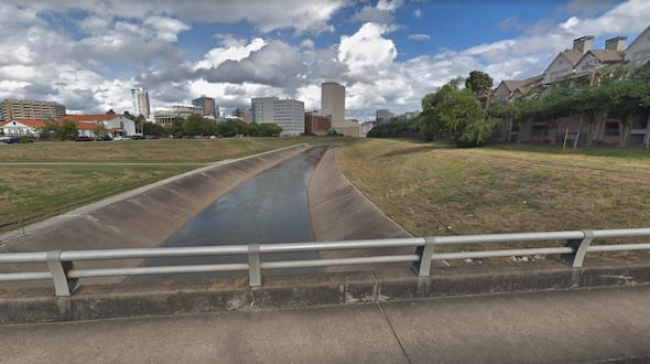 Brays Bayou. Image by Google Earth
