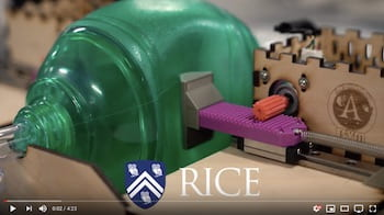 Rice University staff, students and partners have developed an automated bag valve mask ventilator unit that can be built for less than $300 worth of parts and helps critically ill COVID-19 patients. They expect to make plans freely available online within weeks.