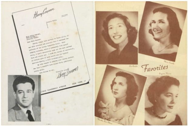 Vanity Fair sections showcased collegiate beauties, as shown here in the 1950 Campanile.