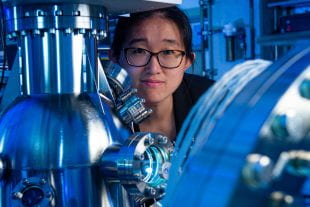 Rice University physicist Ming Yi in laboratory