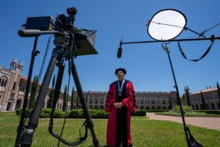 Rice President David Leebron welcomed the Class of 2020 in virtual commencement videos May 16.