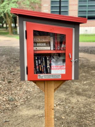 One of the three new Little Free Libraries is outside Valhalla. (Photos by Katharine Shilcutt)