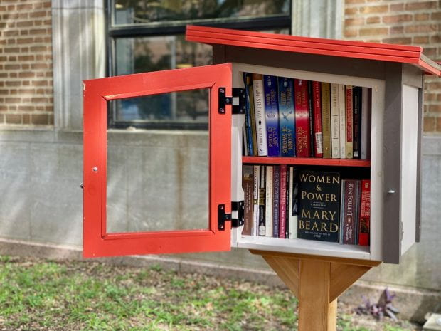 This Little Free Library is in the hammock grove outside Fondren.