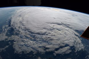 Hurricane Harvey as seen from the International Space Station on Aug. 28, 2017