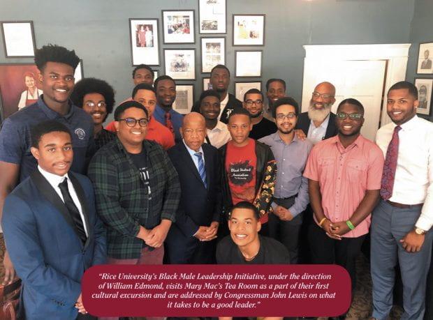 The Black Male Leadership Initiative meets Congressman John Lewis in Atlanta.