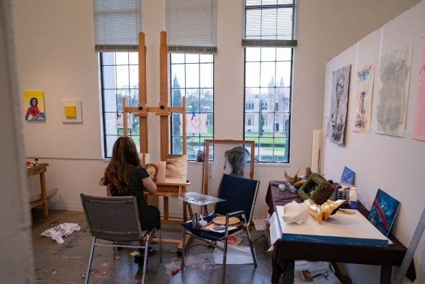 """""""This historic gift will elevate the place of the student creative arts in a Rice liberal arts education,"""" said Dean of Humanities Kathleen Canning."""