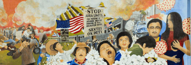 Sherry Tseng Hill, 'Forgive but not Forget,' 2020, acrylic on canvas, 48 x 18 in., courtesy of the artist.