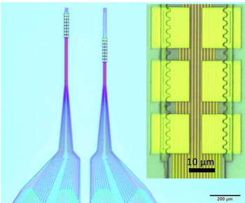 The National Institutes of Health is backing a Rice University project to continue the development of flexible nanoelectronic thread to gather information from neurons. The miniaturized implants could ultimately help find therapies for neurological disorders. (Credit: Xie Laboratory/Rice University)