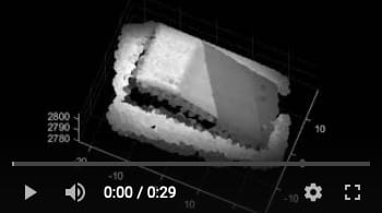 Rice University engineers turned a set of monochrome camera captures from a 3D hyperspectral imaging system based on the Hyperspectral Stripe Projector into 4D data of spatial and spectral information. This video demonstrates the spatial reconstruction of the targets. (Credit: Kelly Lab/Rice University)