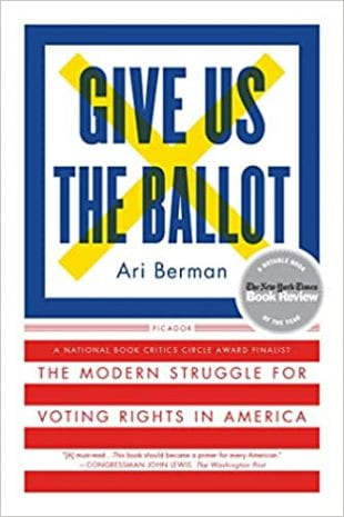 """a mini book club will convene online Oct. 12, 14 and 16 to discuss """"Give Us the Ballot: The Modern Struggle for Voting Rights in America."""""""