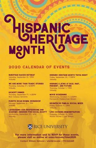Hispanic Heritage Month at Rice 2020