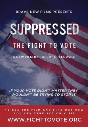 """""""Suppressed 2020: The Fight to Vote,"""" a documentary short film about voter suppression in the 2018 midterm election in Georgia, will be screened virtually Oct. 2, 3 and 4."""