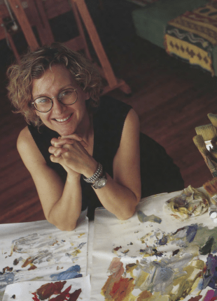 Artist Darra Keeton taught painting and drawing at Rice for 19 years.