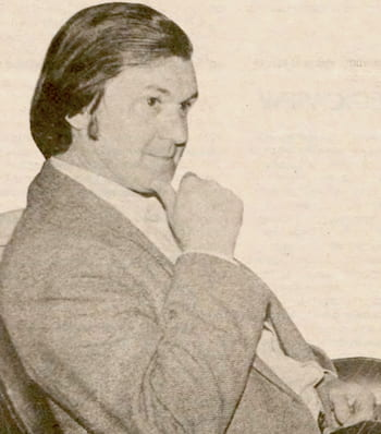 Roger Penrose, photographed in 1983 for the Sallyport. Photo by Todd Malcolm