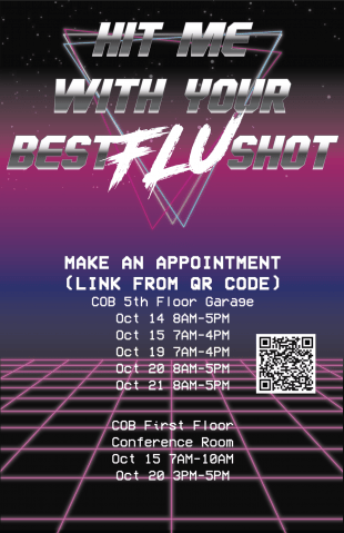 Flu shots are available on campus starting Oct. 2.