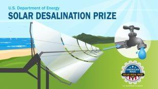 用于100万美元的太阳海水淡化奖。
