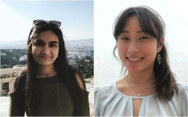 SID Richardson Collegch大学生Anika Sonig and Jones College高级Linda Liu组织了今年的大米本科研究研讨会。