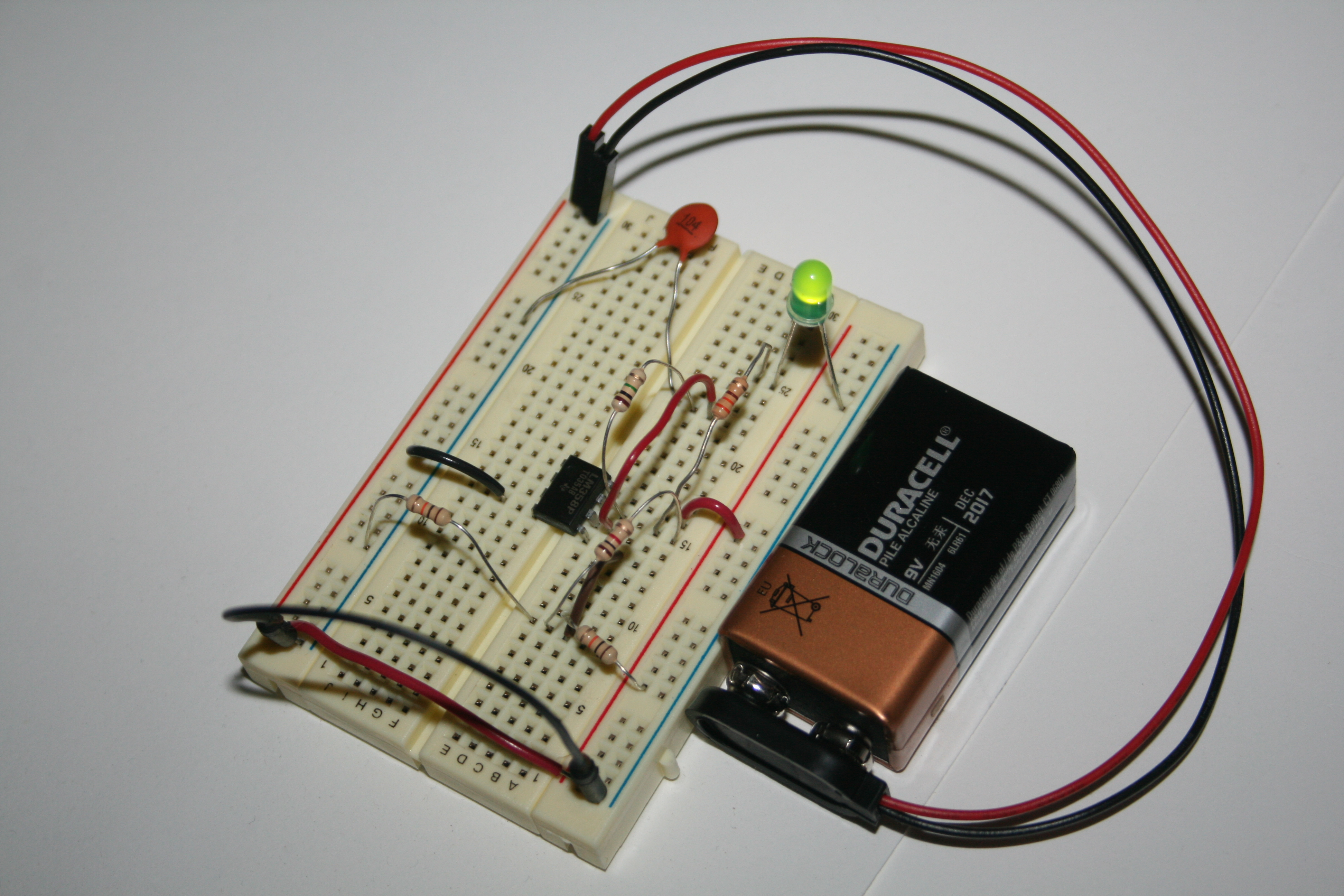 Op Amp Oscillator For The Circuit And Also Determine Frequency Of Oscillations Light Will Blink At A Determined By Values Resistors Capacitors You Could Observe Oscillation With An