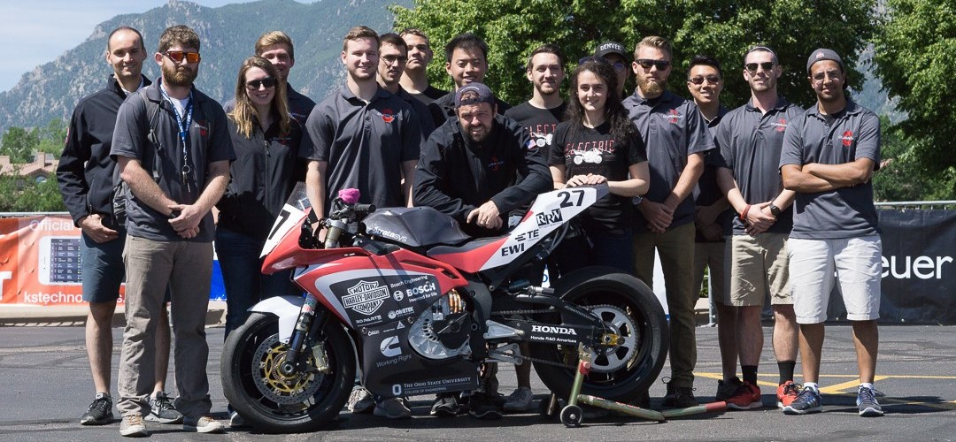 Buckeye Current team at 2017 Pikes Peak International Hill Climb Technical Inspection
