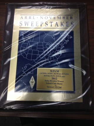 November Sweeps 2012 Plaque Arrives