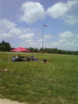 A photo of the W5YM field day tent.