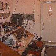 Another view of the original W5YM operating console on the 8th floor of SCEN (pre-2002).