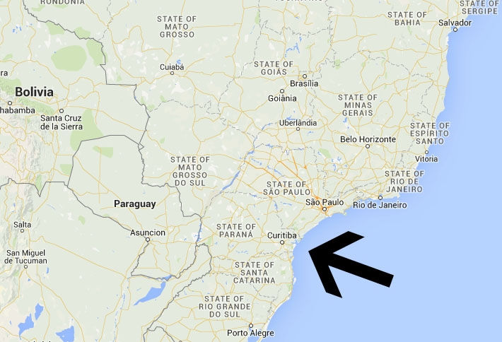 Curitiba location