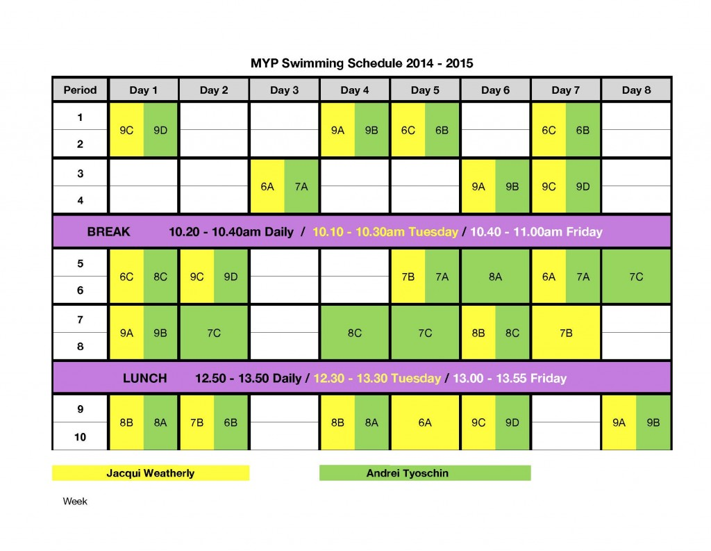 Myp swimming swimming Agincourt swimming pool schedule 2014
