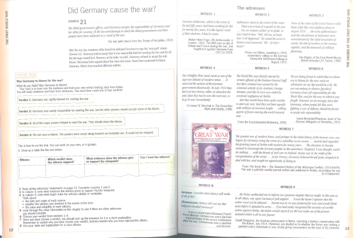 was germany to blame for world war 1 essay World war i: the blame game  ever since the humiliation of 1870 france had been preparing for another war with germany and they were determined that.