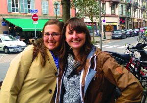 Juniors Hannah Ensign-George (left) and Annie Wolff (right) abroad in Strasbourg, France