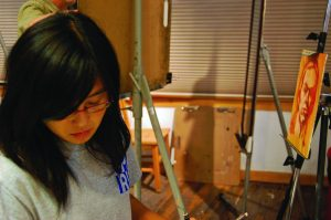 Senior Sandy Zhang believes art can touch all people and can be used to improve society