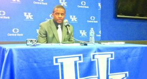 Randall Cobb speaks at a press conference during his time at the University of Kentucky. He was drafted by the Green Bay Packers in 2011.