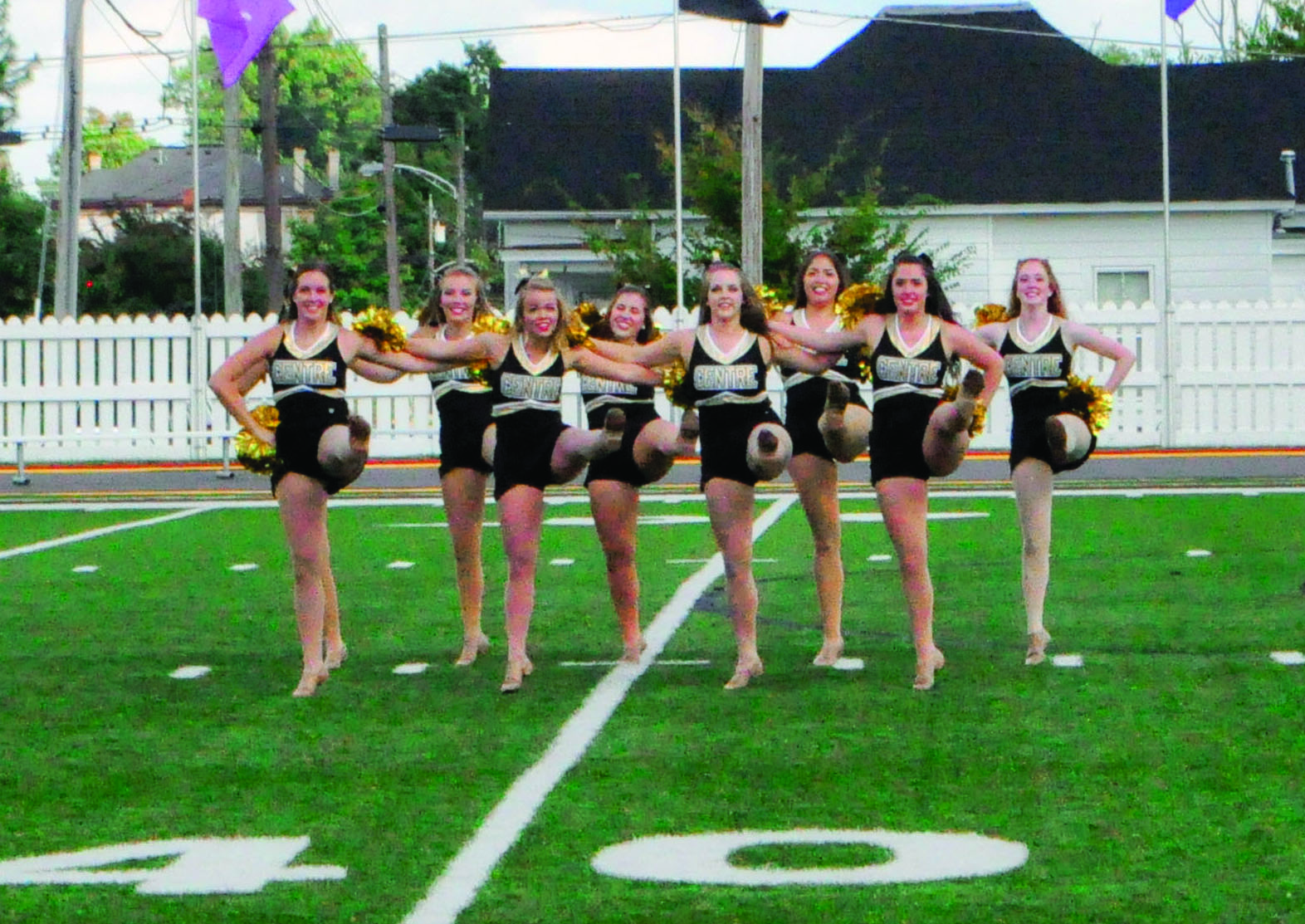Centre Dance Team Entertains at Halftime