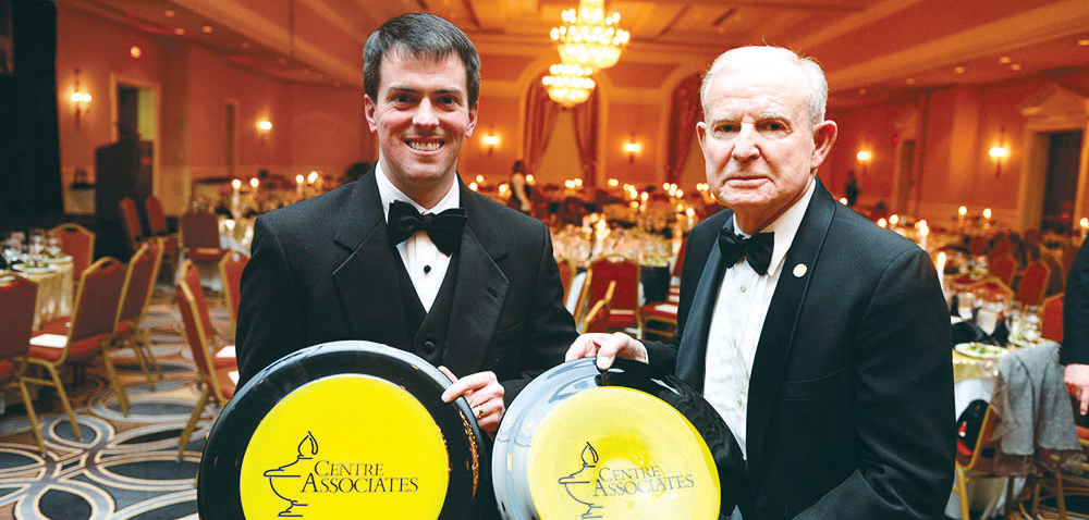 Guests enjoy dinner provided at the Seelbach Hilton in Louisville, Ky. This year's Associate of the Year was David F. Ray, class '59.