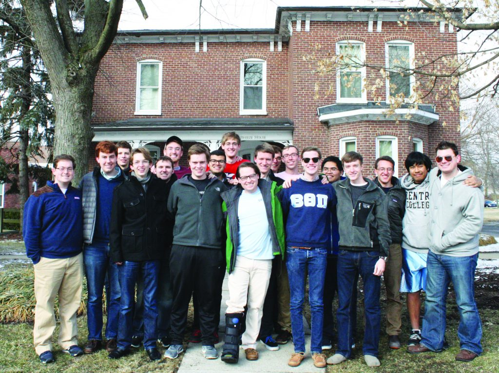 The Epsilon chapter of Beta Theta Pi is currently undergoing national review to determine if they will be eligible to regain their charter and be officially recognized as a chapter.