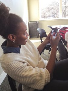 The ease of the app allows snaps to be taken anywhere: in class, at work, or before meetings