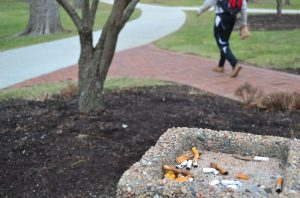 While many feel that there is a small population of smokers on campus, many others wish the campus would go tobacco free.